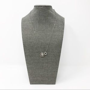 New York & Co. Silver Tone Sliding Ring Necklace
